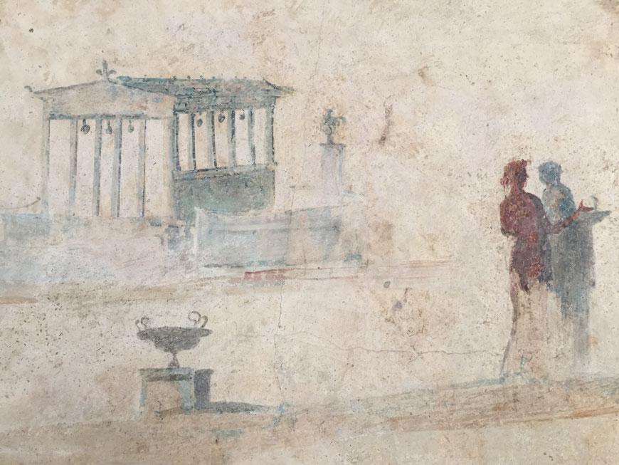 Fresco aus dem Columbarium an der Villa Doria Pamphilj, 1. Jhdt. v. Chr., Palazzo Massimo, Rom   © Copyright Philipp Krüger