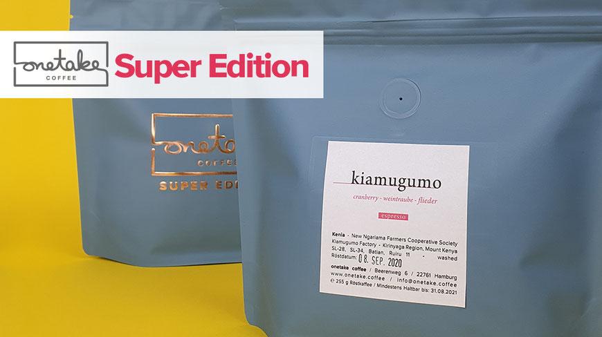 onetake coffee super edition Kenia Kiamugumo filter und Espresso