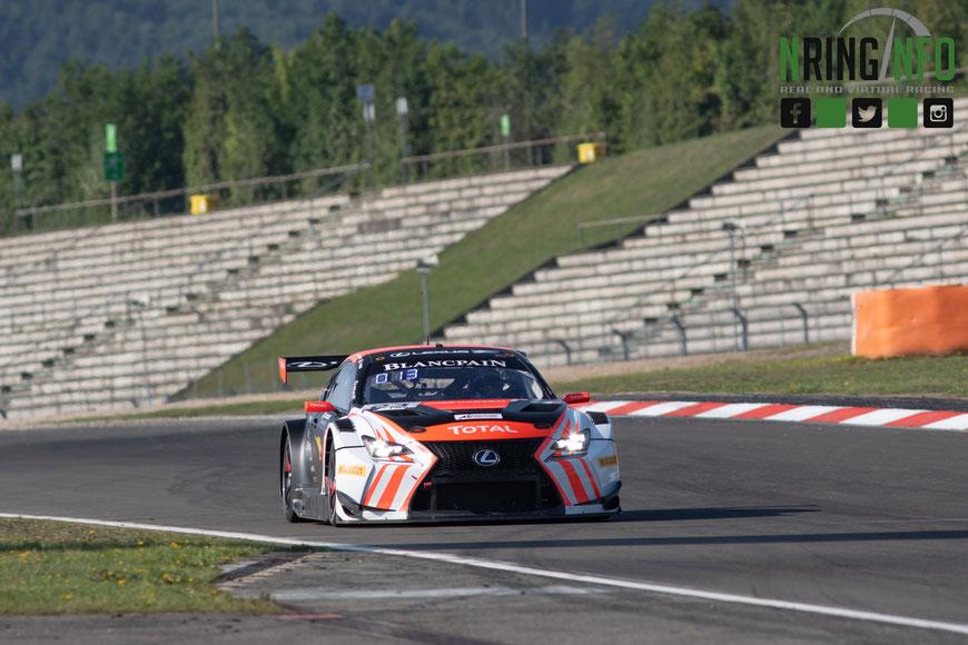 Der Lexus RCF GT3 des Tech1 Racing Teams im letzten Jahr am Nürburgring