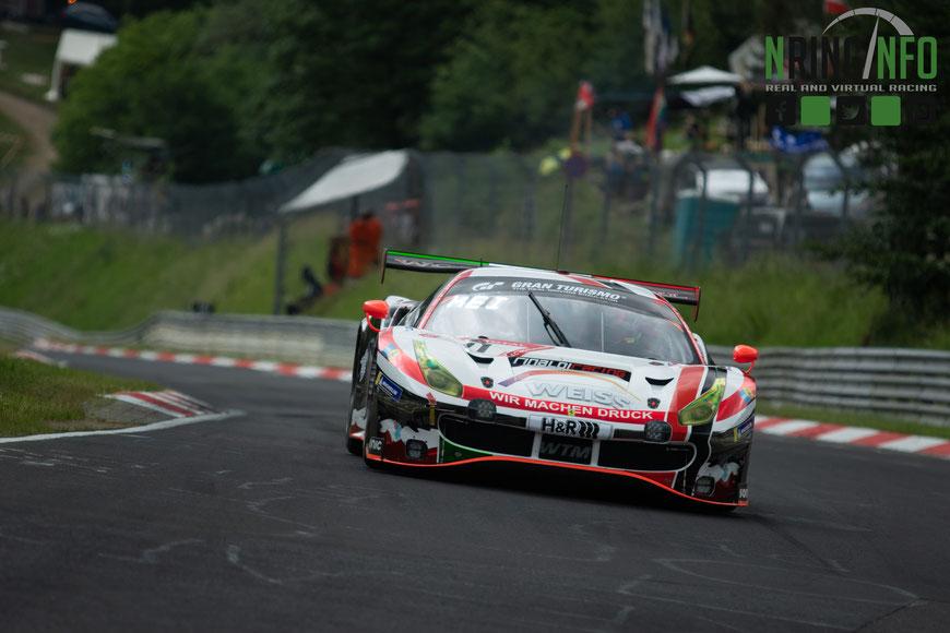 Der WTM-Ferrari #11 beim letztjährigen 24 Stunden Rennen