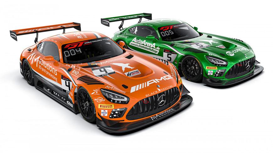 Black Falcon wird in diesem Jahr gleich zwei Fahrzeuge bei allen Läufen der GT World Challenge Europe einsetzen.