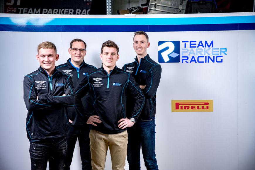 Die drei neuen beim Team Parker Racing: Frank Bird, Euan McKay und Nicolai Kjærgaard