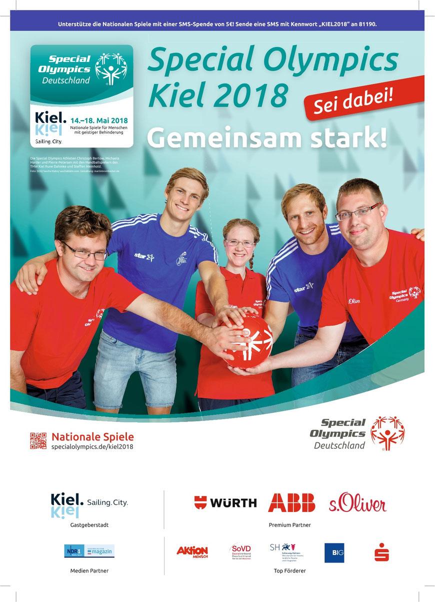 Wir drücken unseren Teilnehmern bei den Special Olympics 2018 in Kiel die Daumen.