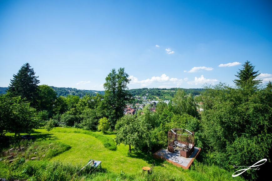 traumhafte Aussicht nach Norden, über die Stadt, von der neuen Terrasse aus, Photo by A. Gohl