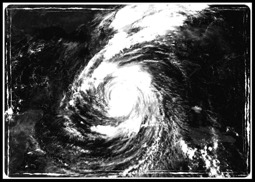 Hurricane Irma traversing through the State of Florida; the largest storm in history.