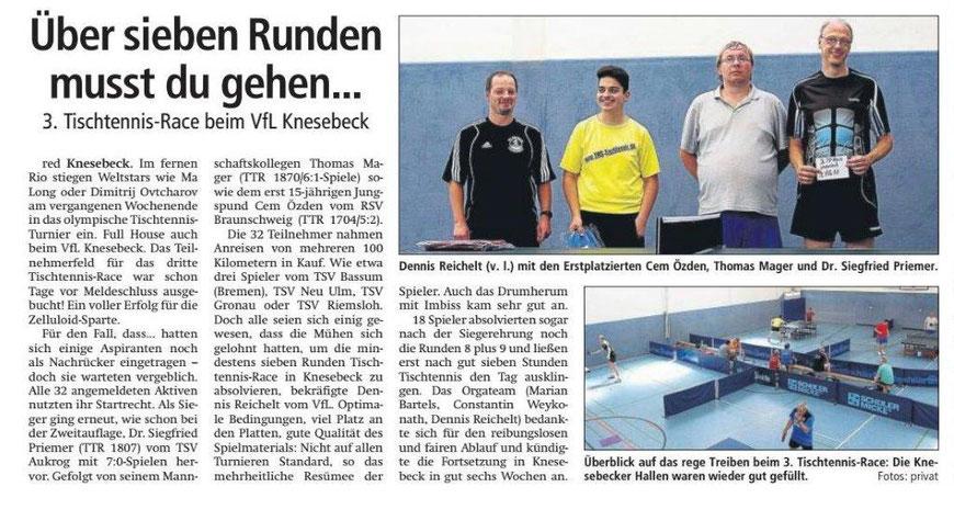 Bericht zum 3. TT-Einhorn-Race