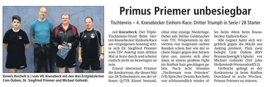 Bericht zum 4. TT-Einhorn-Race