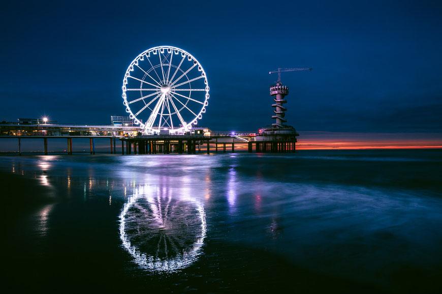 Scheveningen Pier, Den Haag, Niederlande, Architektur, Seebrücken, Stege, Piers