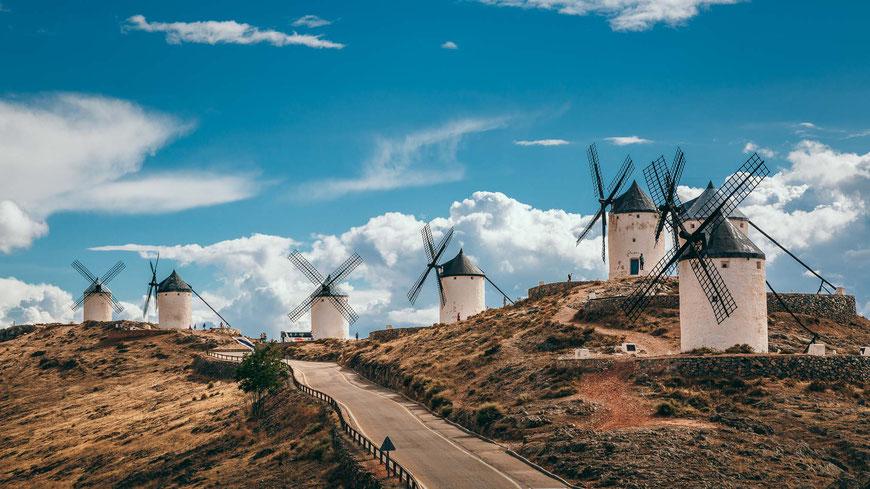 Molinos de Consuegra, Spanien, Architektur, Türme, Mühlen
