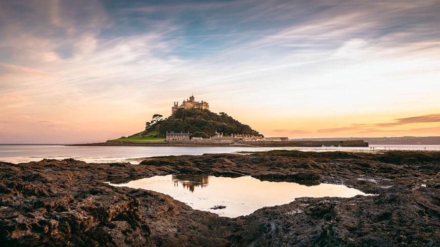 St Michaels Mount, Cornwall, England, Landschaftsfotografie, Landschaftsfotografie, Landschaft