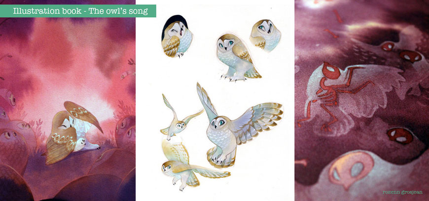 children book, illustration, owl, animal, watercolor, animation, concept art