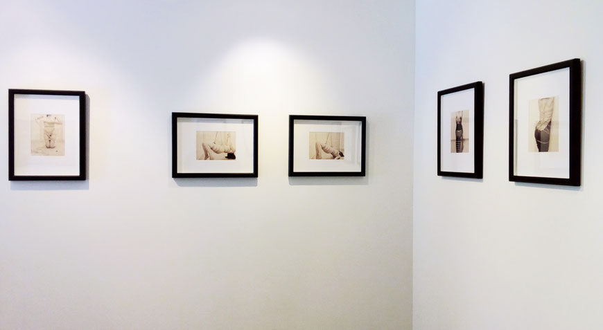 """Vue de l'exposition """"Moi par Moi"""" à la Galerie La Porte Étroite, 2017"""