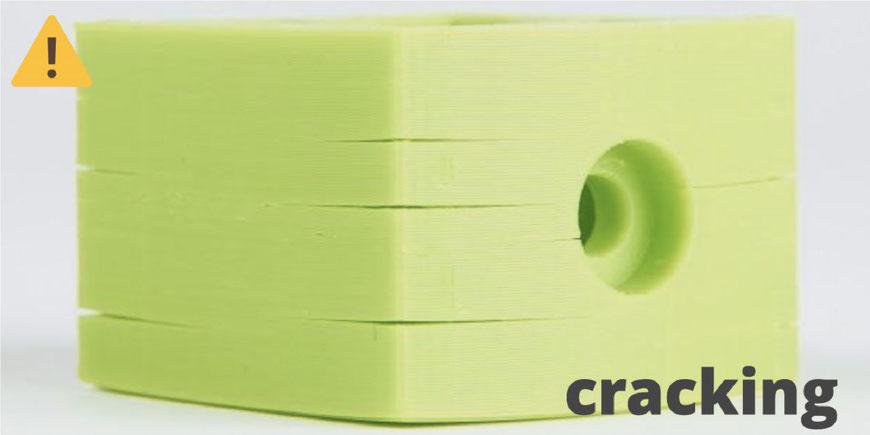 Cracking o delaminación en la impresión 3D