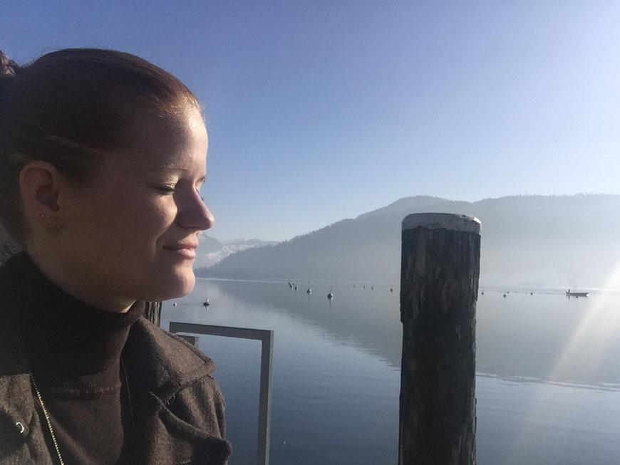 Entspannen am Ägerisee, Zentralschweiz. Dankbar für diese wunderbare gegebene Welt.