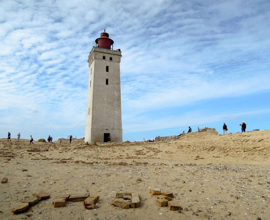 Ortsbesuch: der dänische Leuchtturm Rubjerg Knude Fyr im Sommer 2018. Foto: C. Schumann