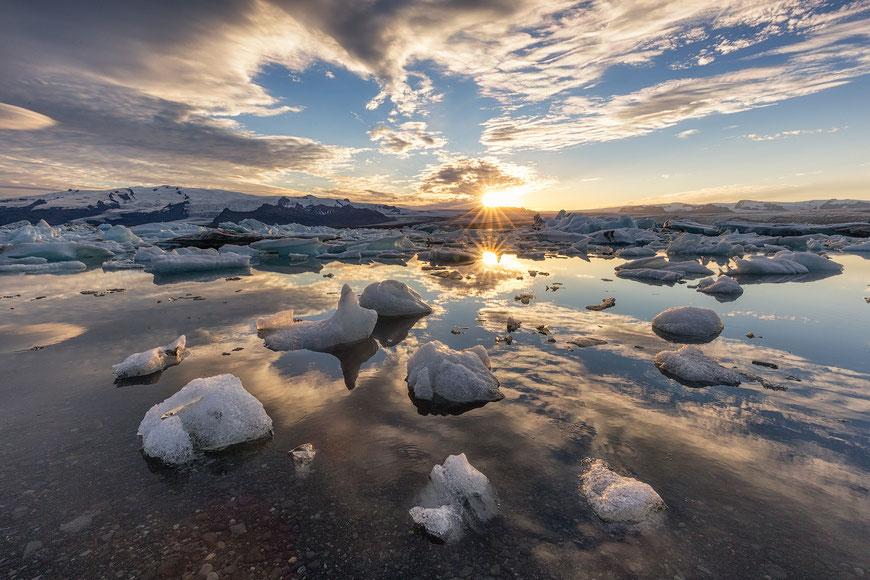 Jokulsarlon Glacier Lagoon. Best photography spots in Iceland