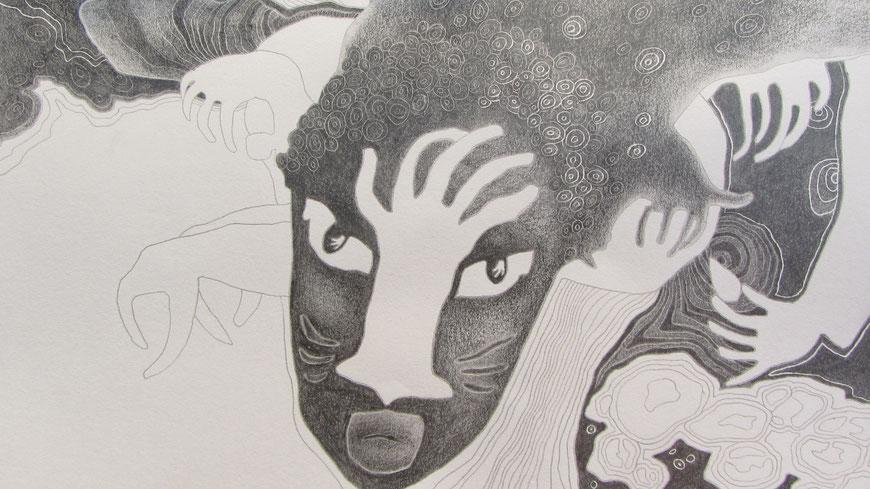 GHANA 2 (ausschnitt) / 29,5 x 20,5 cm / 2012 / bleistift auf papier