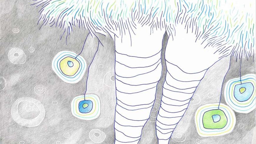 PAULINCHEN (auschnitt) / 18 x 26 cm / kuli, bleistift, buntstift auf papier