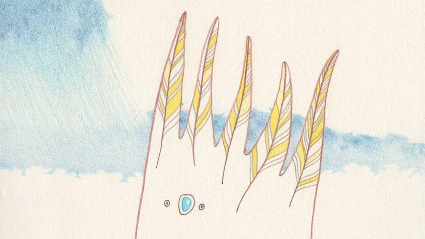 DES KÖNIGS SCHWARZER SCHATTEN (ausschnitt) / 19 x 19 cm / 2011 / buntstift auf papier