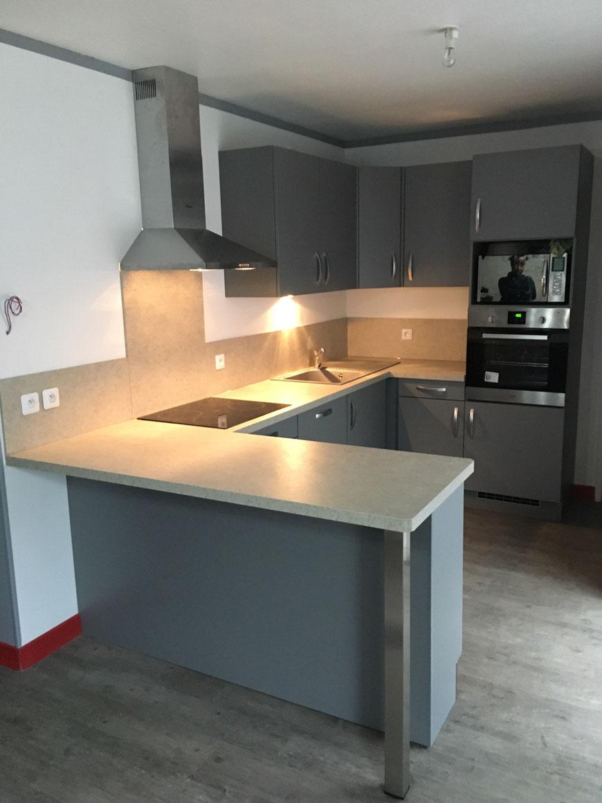 cuisine quip e gris souris argueil 76780 cuisine home concept. Black Bedroom Furniture Sets. Home Design Ideas