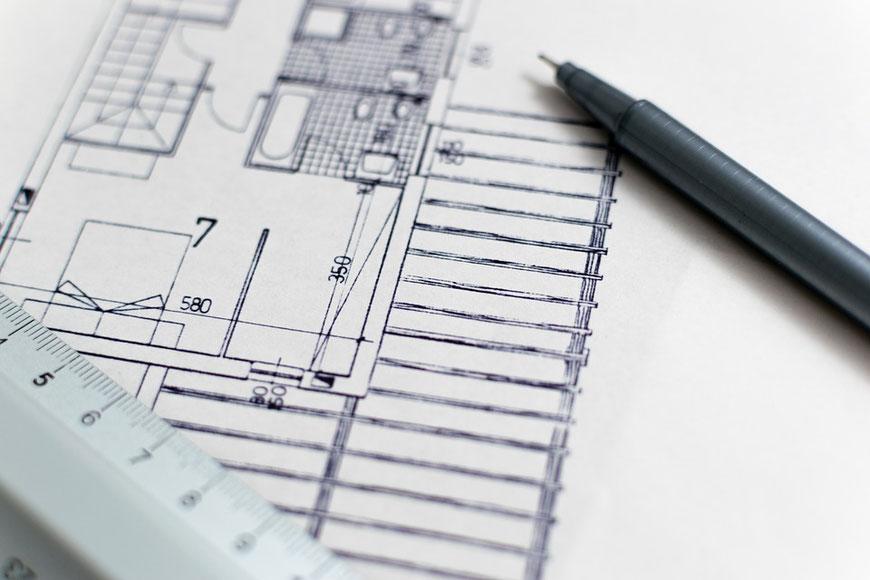 Montret - Plan permis de construire mesure cotes