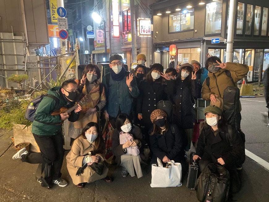 POPS Parade vol.30終演後にパチリ。下北沢にて。来年(今年)もいい一年にしたいですね。