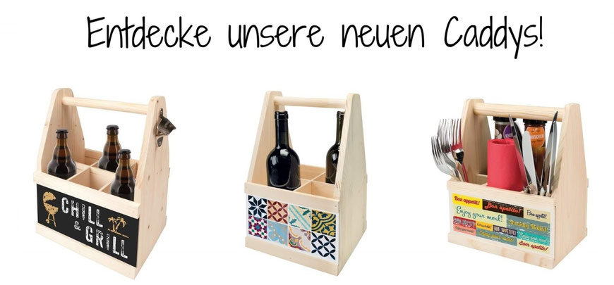 Caddys Bier/Wein/Besteck