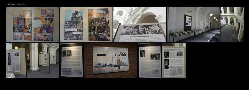 Impressionen der Ausstellung in der Hamburger Staatsbibliothek 2018.