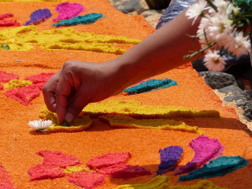 bunte Farben in Antigua Guatemala