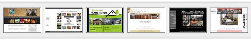 Beispiele von Webseiten - auch in die Jahre gekommen sehen sie immer noch gut aus!