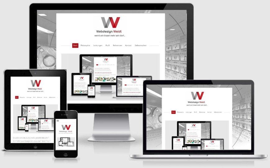 Responsive Webdesign bedeutet optimale Darstellung Ihrer Webseite auf PC, Tablet und auch Handy