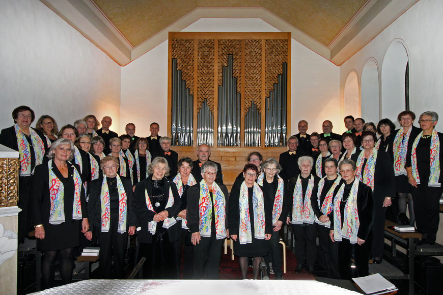 Kirchenchor Nütheim/Schleckheim Gruppenfoto 2019 Cäcilienfest Birgit Neuner-Gyo