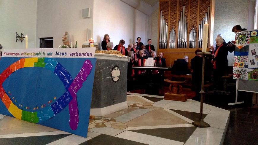 Vorstellung Kommunionkinder Oberforstbach Nütheim Schleckheim 2019