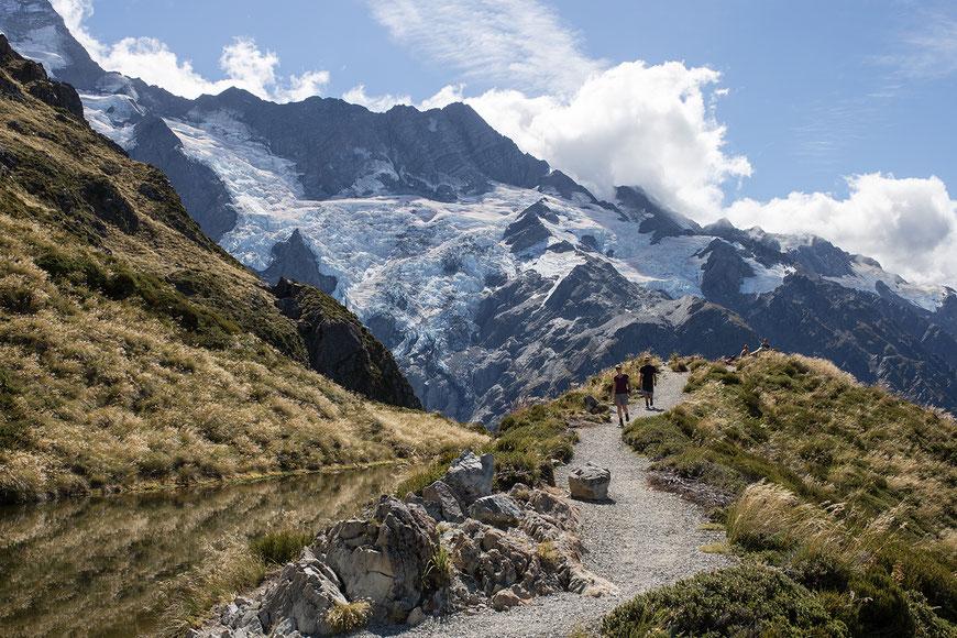 Sealy Tarns – Aussichtspunkt auf dem Weg zur Mueller Hut oder Ziel für einen Tagesausflug.