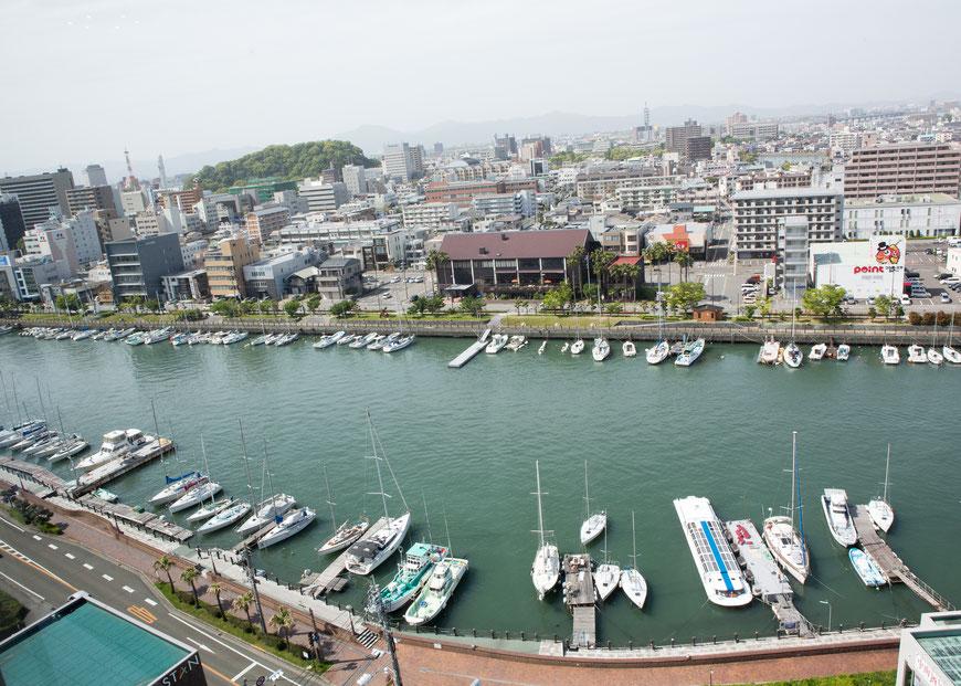 徳島グランビィリオホテル15F会場より徳島市内を臨む