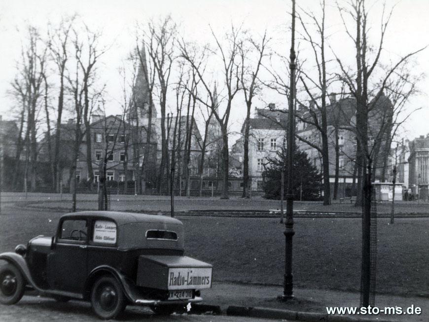 Am Servatiiplatz - Rechts der Eingang zur Salzstraße mit Kaufhaus Althoff