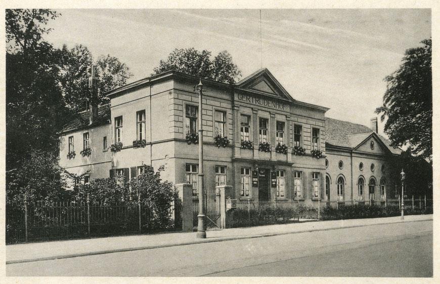 Gaststätte Gertrudenhof mit Saalanbau um 1930