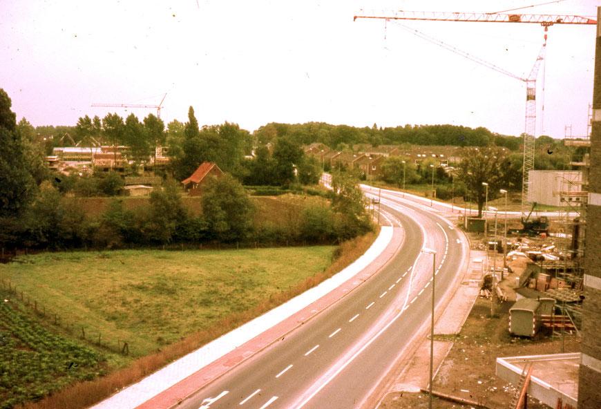 Burloh Richtung Grevener Straße - Auf dem linken Grundstück steht heute ein Aldi-Supermarkt