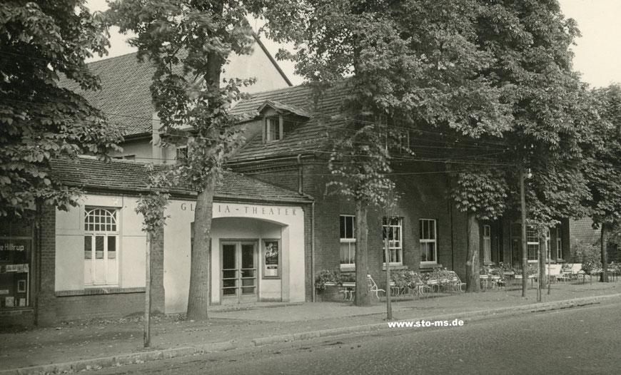 Das Gloria-Theater neben der Gaststätte Voigt in Hiltrup