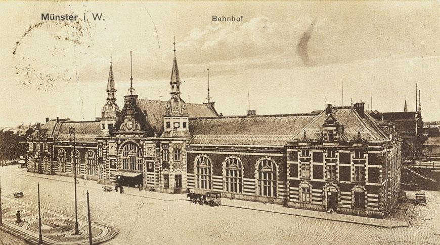Münsters 2. Bahnhof um 1900