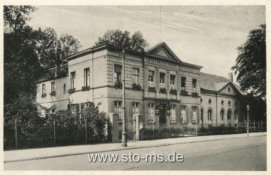 Der alte Gertrudenhof an der Warendorfer Straße