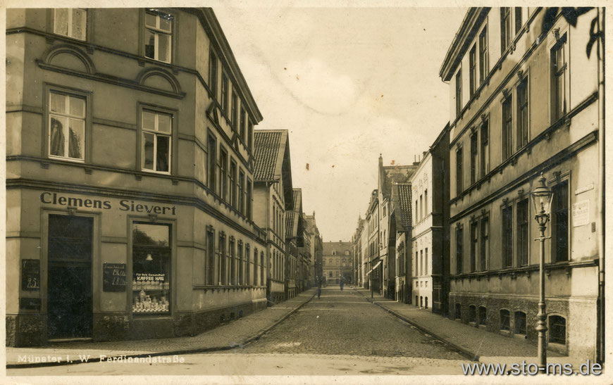 Die Ferdinandstraße im Kreuzviertel um 1920