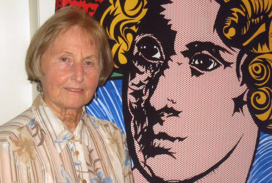 Liselotte Folkerts zum 80. Geburtstag mit Annette-Bild von Gerold Wintzer