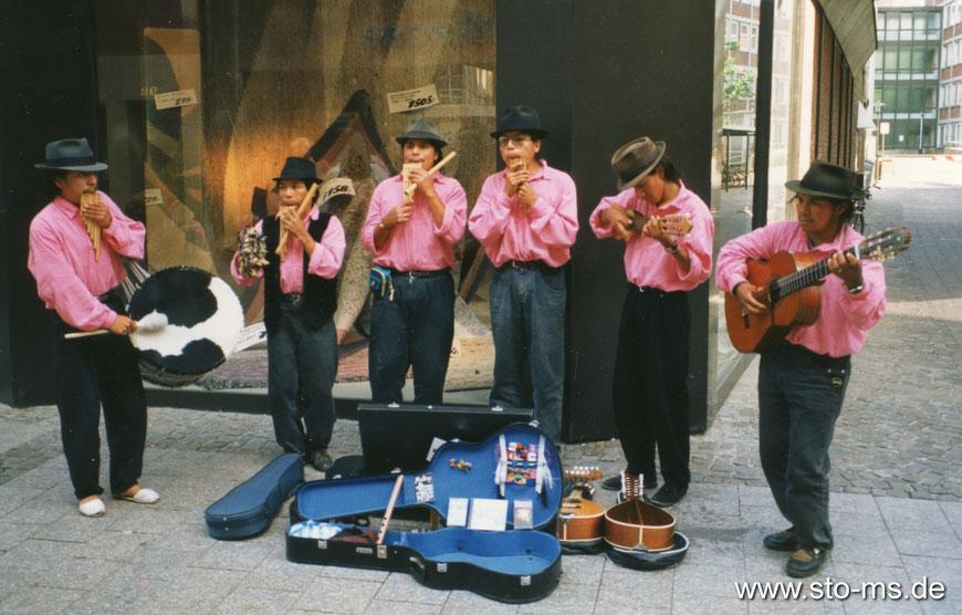 Stadtmusikanten aus Peru um 1990