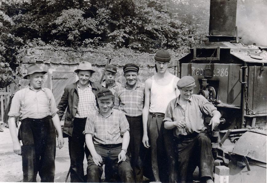 Arbeiter der Firma Levermann Ende 50er Jahre
