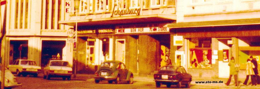 Schauburg Mitte der 1970er Jahren - Es läuft Ben Hur