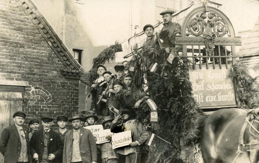 Protestaktion ,Mit Gunst gut schmieden ist eine Kunst!' - Mitte 1935