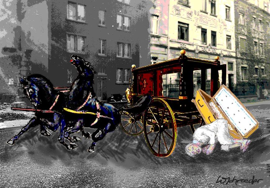 Collage zu ,Erinnerungen Südstraße 100'