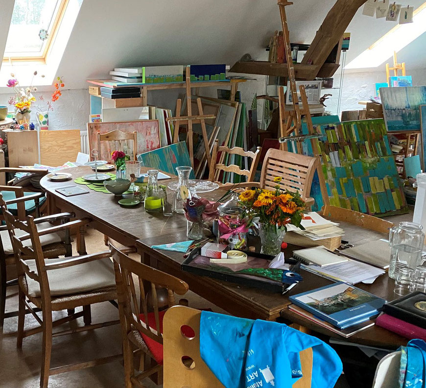 Im Atelier - Foto Henning Stoffers