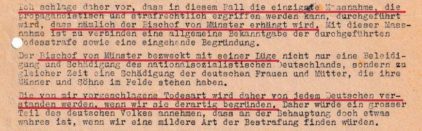 Aus dem Vermerk des  ,Abteilungsleiters Propaganda' Walter Tießler